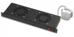 LANDE - Lande 2 Li Fan Modülü Termostat Switch Rack Montajı 19'' Uyumlu.