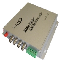 ECOLAN - Ecolan 4 Port Video Coax Fiber Çevirici Datalı Set.