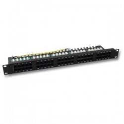 ECOLAN - Ecolan 50 Port Cat 3 Isdn Patch Panel Siyah.