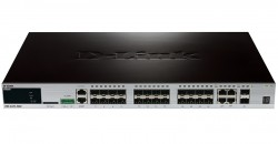D-LINK - D-Link Dgs-3420-26Sc Stackable Managed Layer 2 + Switch With 20-Port Sfp, 4 Combo Ports 10/100/1000Base-T/Sfp And 2-Port Sfp +.