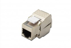DIGITUS - Digitus Cat 6 Keystone Jack, Shielded, Class Ea, Rj45 To Lsa, Tool Free Connection.