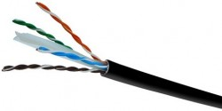 DIGITUS - Digitus Cat 6 U-Utp Installation Cable, Raw, Length 500m, Drum, LSOH, Awg23, Simplex, Color Black Outdoor.