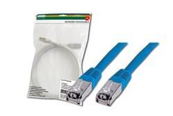 DIGITUS - Digitus Patch Kablo, F-UTP, CAT. 5E, 2 metre, AWG 26/7, Mavi Renk, 3P sertifikalı