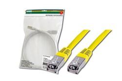 DIGITUS - Digitus Patch Kablo, F-UTP, CAT. 5E, 2 metre, AWG 26/7, Sarı Renk, 3P sertifikalı