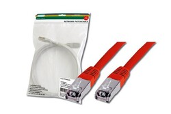 DIGITUS - Digitus Patch Kablo, F-UTP, CAT. 5E, 3 metre, AWG 26/7, Kırmızı Renk, 3P sertifikalı