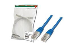 DIGITUS - Digitus Patch Kablo, UTP, CAT. 5E, 3 metre, AWG 26/7, Mavi Renk, 3P sertifikalı