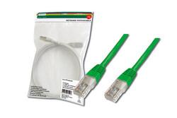DIGITUS - Digitus Patch Kablo, UTP, CAT. 5E, 7 metre, AWG 26/7, Yeşil Renk, 3P sertifikalı