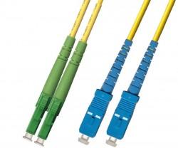 OEM - Oem Fo. Duplex P.Cord Lc(Apc)/Sc Sm 9/125µ 3 Mt.