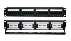 GEO PLUS - Geoplus Cat6 24 Port Utp 1U Dikey Patch Panel.