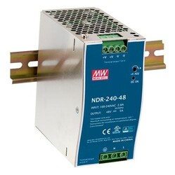 PLANET - Planet MW-NDR-240-48 AC-DC Industrial DIN rail power supply